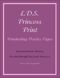 L.D.S. Princess Print Handwriting Practice for PreK, Kinde