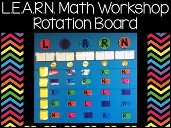 L.E.A.R.N. Math Workshop Rotation Board