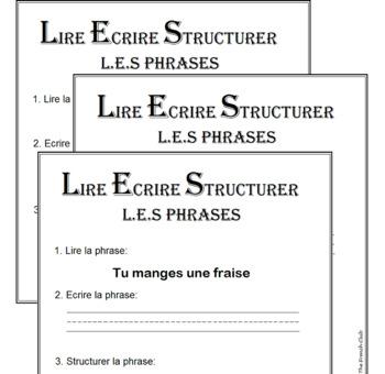 *FREE* L.E.S. Phrases - A fun way to Read-Write-Build short phrases
