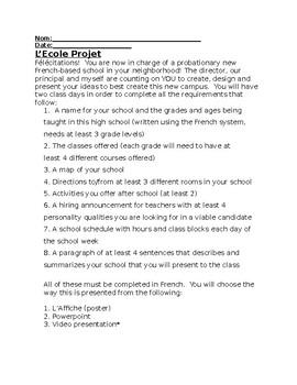 L'École Projet