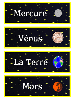 L'Espace: French Vocabulary Cards (with spelling activity!)