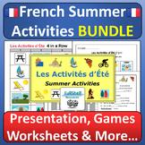 L'été et les Vacances French Summer Vacation Activities BUNDLE