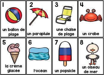 L'Été Parts of Speech Silly Sentences French Version
