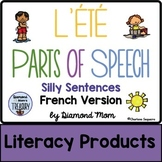 L'Été Parts of Speech Silly Sentences French Version