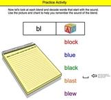 Beginning Blends Interactive Smartboard Lesson (bl, gl, fl