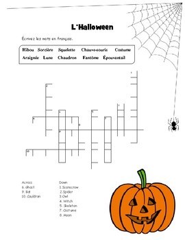L'Halloween-mots croisés et mots cachés