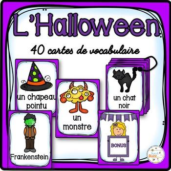 L'Halloween - Cartes de vocabulaire - French Halloween