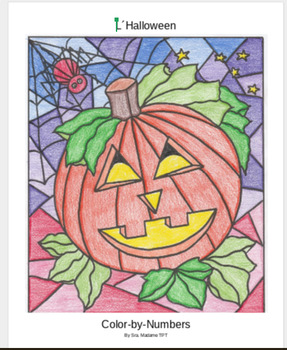 L'Halloween Color by Numbers French