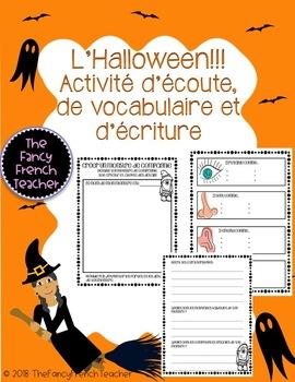 L'Halloween: Créer un monstre (Activité d'écoute, de vocabulaire et d'écriture)