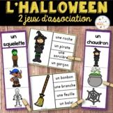 L'Halloween - Ensemble 2 jeux d'association - French Halloween Clip Cards