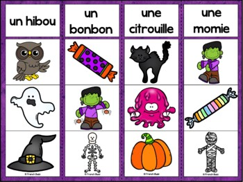 L'Halloween - Ensemble 2 jeux d'association - French Halloween Clip Cards