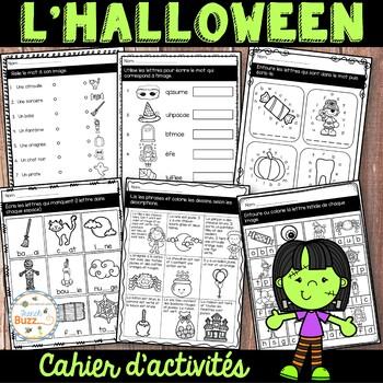 L'Halloween - French Halloween - Cahier d'activités de l'élève