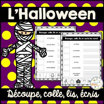 L'Halloween - French Halloween - Découpe et colle