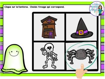 L'Halloween:  French Halloween Themed Digital Task Cards BUNDLE - BOOM CARDS