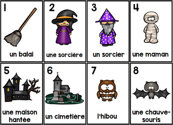 L'Halloween 2 Parts of Speech Silly Sentences French Version