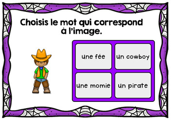 L'Halloween - Vocabulaire #1 - French Halloween - BOOM cards