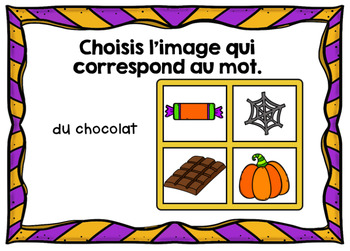 L'Halloween - Vocabulaire #2 - French Halloween - BOOM cards