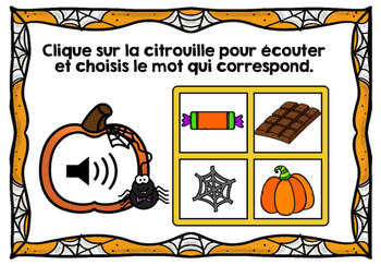 L'Halloween - Vocabulaire #3 - Avec audio - French Halloween - BOOM cards