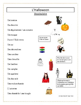 L'Halloween - Vocabulaire