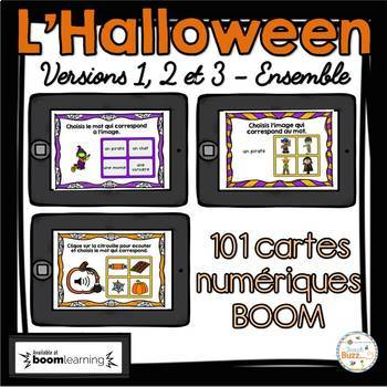 L'Halloween - Vocabulaire Ensemble - French Halloween - BOOM cards