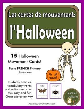 L'Halloween: les cartes de mouvement (French Halloween movement cards - DPA)
