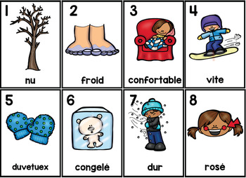 L'Hiver Parts of Speech Silly Sentences French Version