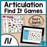 Articulation Activity: /l/ Find It Speech Therapy Games