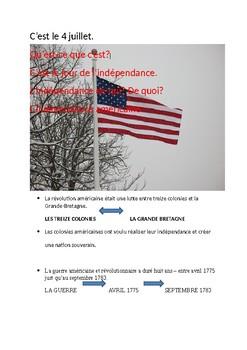 L'INDEPENDANCE AMERICAINE
