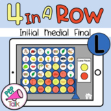 L Initial Medial Final Words 4 in a Row Articulation Game