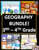 L@@K!  SOCIAL STUDIES BUNDLE GRADES 3 - 4 GEOGRAPHY PDFS AND PPTS