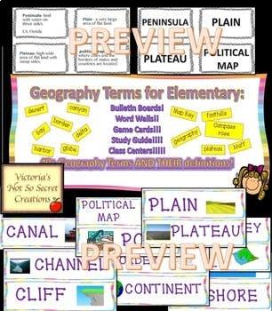 L@@K!  SOCIAL STUDIES BUNDLE GRADES 3 - 4 GEOGRAPHY PDFS AND PPTS
