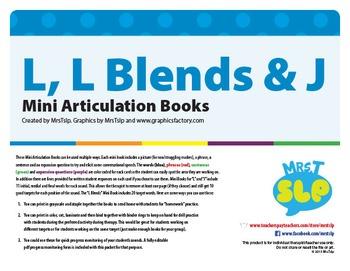 L, L Blends & J MINI ARTICULATION BOOKS