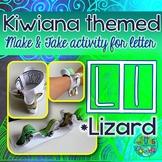 L = LIZARD {Kiwiana Themed 'Make & Take' Alphabet Set}