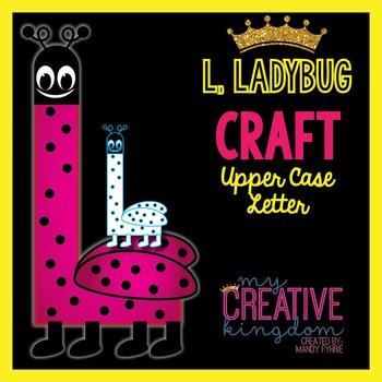 L - Ladybug Upper Case Alphabet Letter Craft
