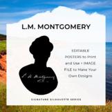 L.M. MONTGOMERY Signature Silhouette Posters