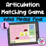 L Matching Articulation Game Initial Medial Final L BOOM CARDS