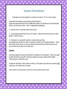 L Medial position Articulation Bump! File Folder Game
