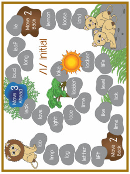 L Phoneme Game Boards