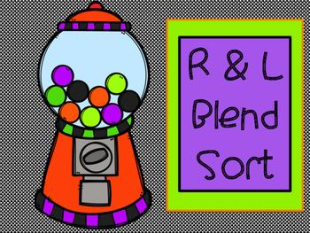 L & R  Blend Gumball Sort -Orton Gillingham
