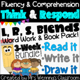 L, R, S Blends Word Work & Book Pack!
