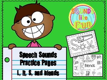 Print & Go: L, R, S Practice Pages