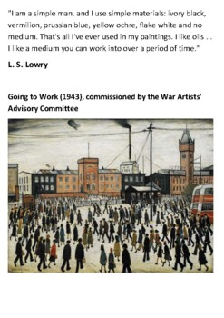 L. S. Lowry Handout