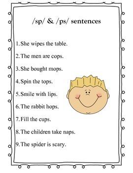 S cluster (ps, sp) Sentences