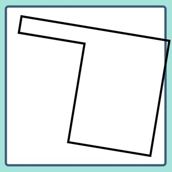 L Shape Blank Templates Clip Art Set Commercial Use