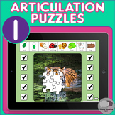 No Print L Sound Articulation Animal Puzzles for iPad or Teletherapy