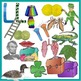 L Clip Art in Realistic Color and Black Line - PNG 300 DPi