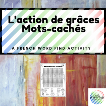 L'action de grâce French Word Search - Thanskgiving