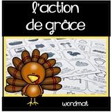Action de grâce - Mots de vocabulaire - Word Mat