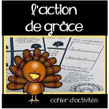 L'action de grâce - Cahier d'activités