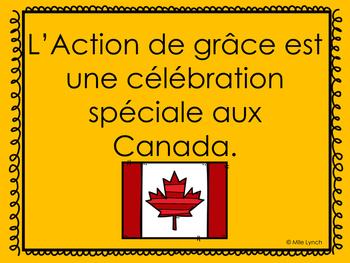 L'action de grâces Canadienne PowerPoint/Canadian Thanksgiving PowerPoint